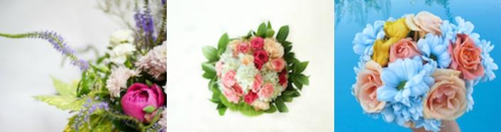 peonias y ramo de novia