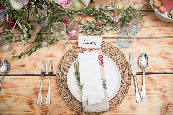 mesa con olivo