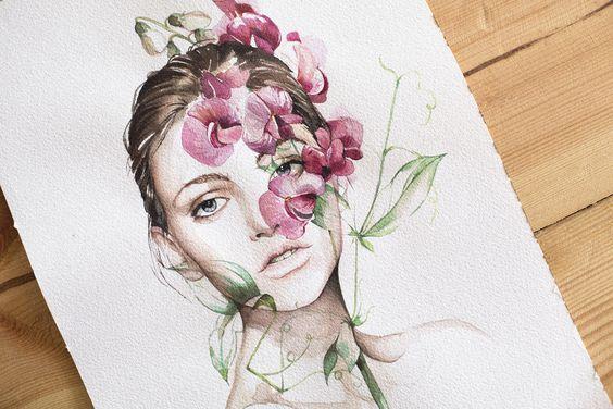 mujer flor veronica algaba