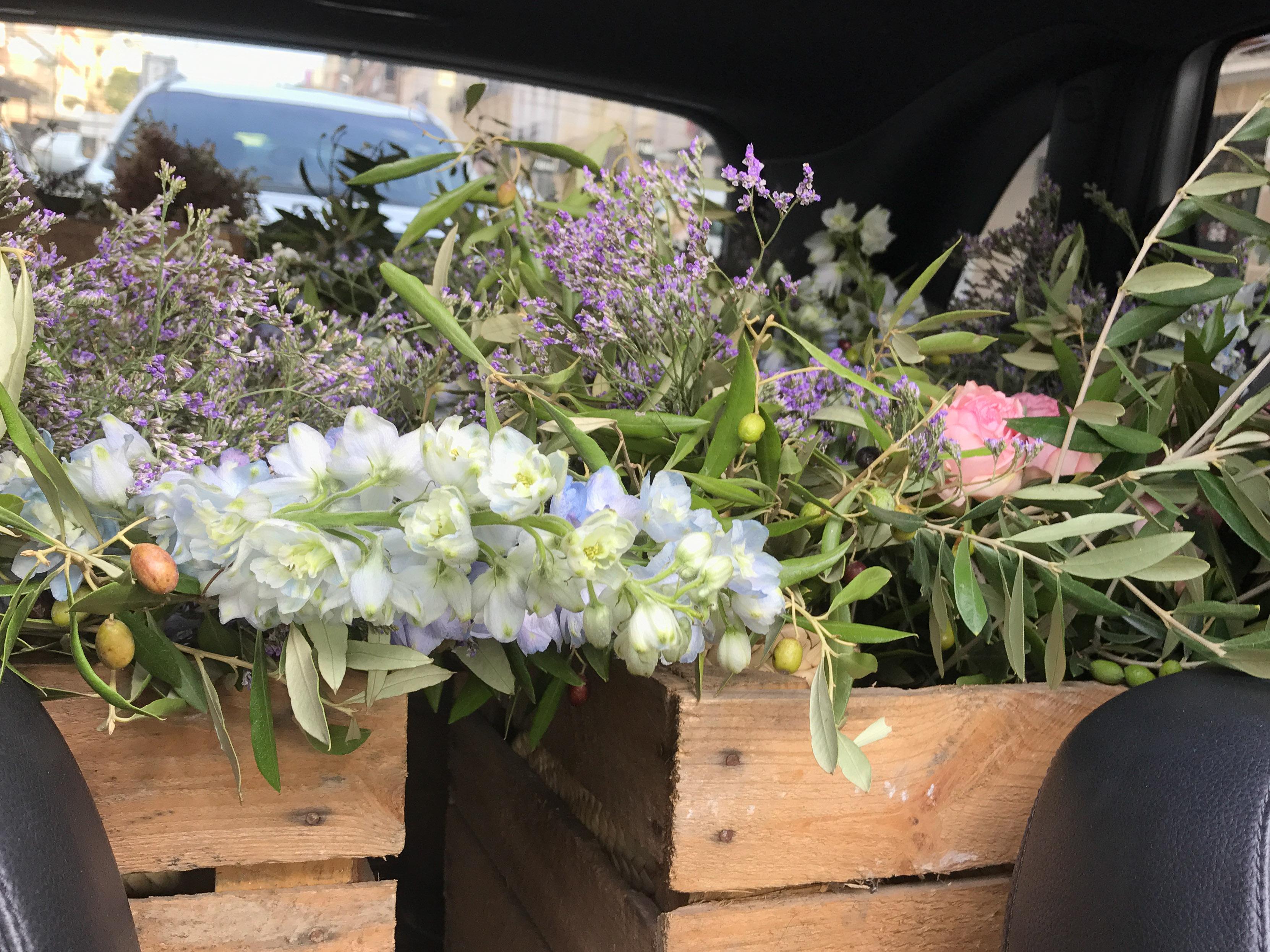 cajas con flor