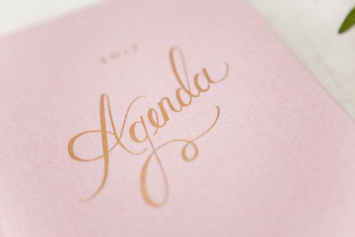 agenda Rifle oro rosa