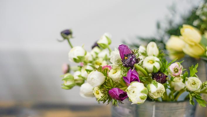 cosecha granja de flores