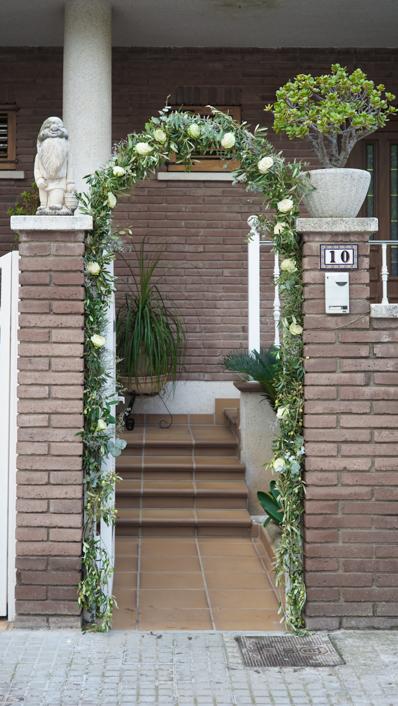 arco en casa de la novia