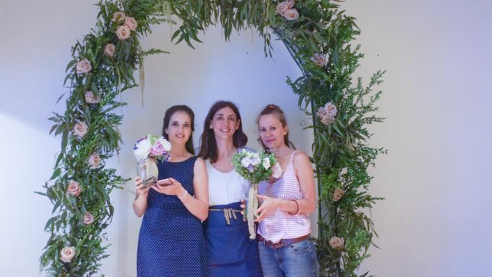 arco redondo para bodas en Escuela Floral